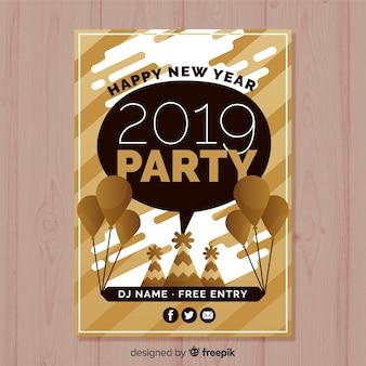 Party-flyer des neuen jahres 2019