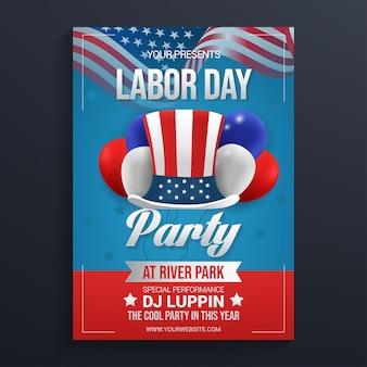 Party-flyer-vorlage für arbeitstage