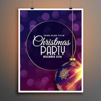 Party flyer vorlage für weihnachtsfest saison