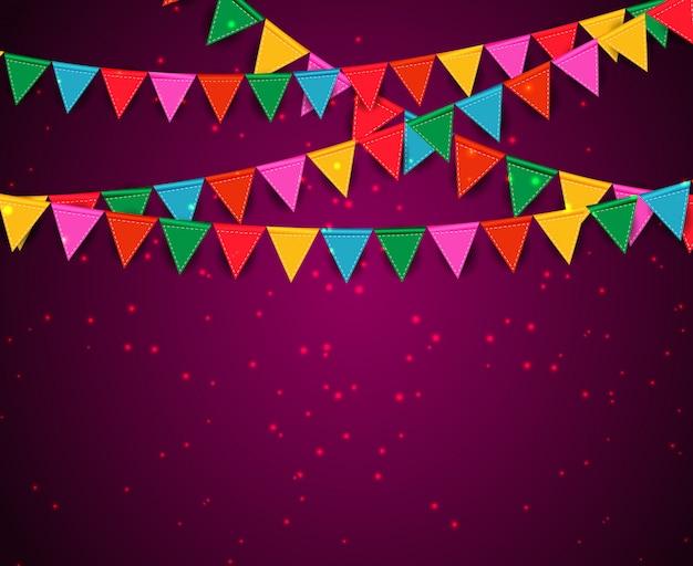 Party hintergrund mit fahnen