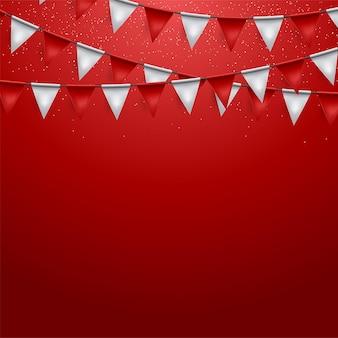 Party-hintergrund mit flaggen-vektor-illustration