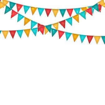 Party-hintergrund mit flaggendekoration