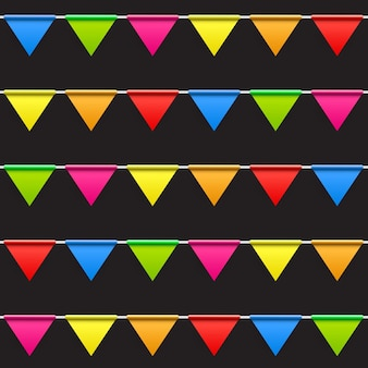 Party-hintergrund mit flags seamless pattern vector illustration. eps10