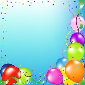 Party hintergrund mit luftballons