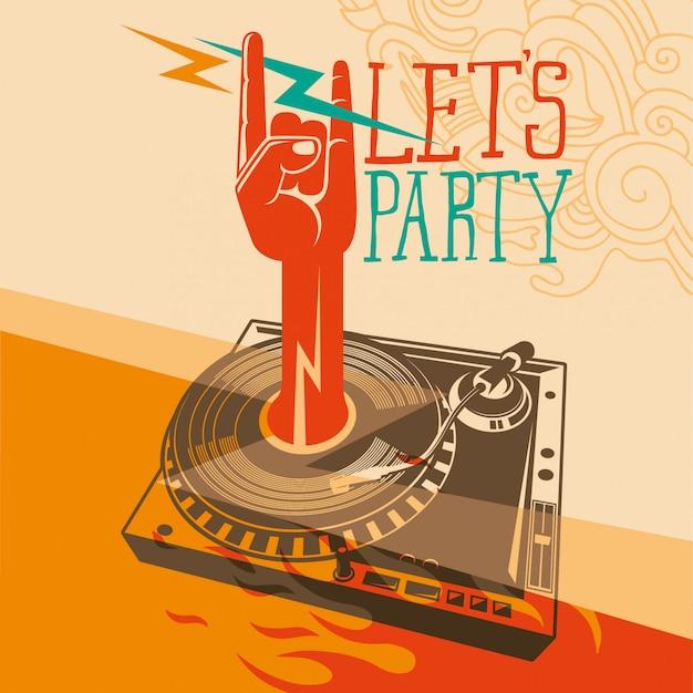 Party hintergrunddesign