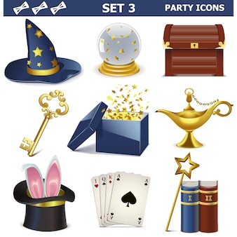 Party icons set 3