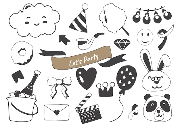Party illustration set