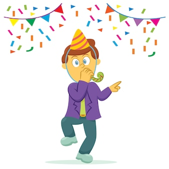 Party mann illustration hintergrund