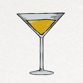 Party martini glasaufkleber feiergetränke im vintage style