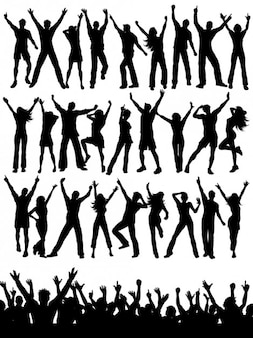 Party-menschen silhouetten sammlung