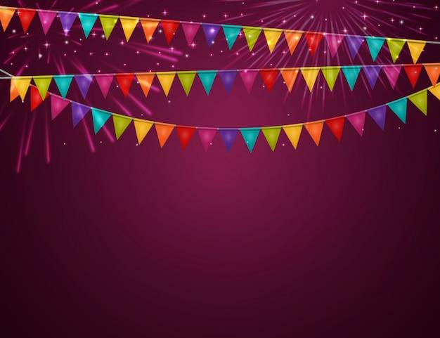 Party mit fahnen