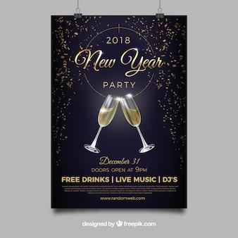 Party neujahr poster