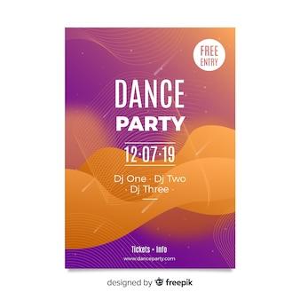 Party plakat vorlage mit abstrakten formen