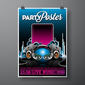 Party-plakat vorlage