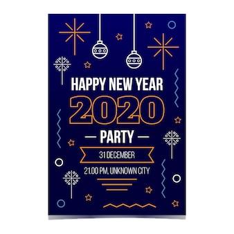 Party-plakatschablone des neuen jahres in der entwurfsart