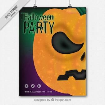 Party poster von halloween schlechter kürbis