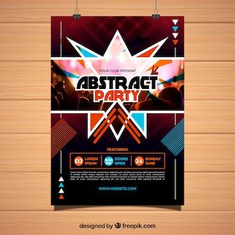 Party poster vorlage mit abstrakten design
