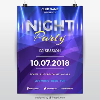 Party poster vorlage mit abstrakten stil