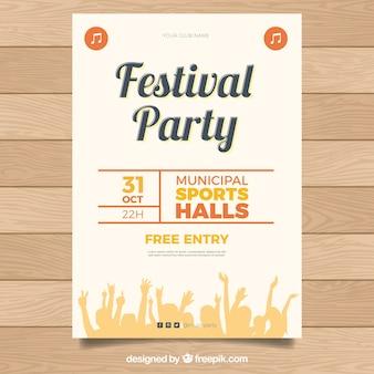 Party poster vorlage mit publikum