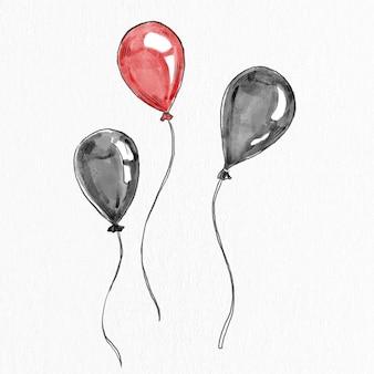Partyballonvektor hand gezeichnetes gestaltungselement