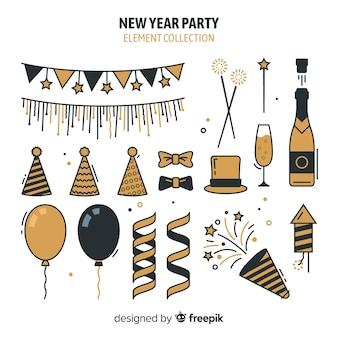 Partyelemente-sammlung des neuen jahres