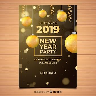 Partyfahne des neuen jahres 2019
