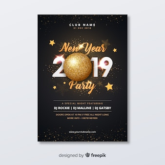 Partyflieger des neuen jahres 2019