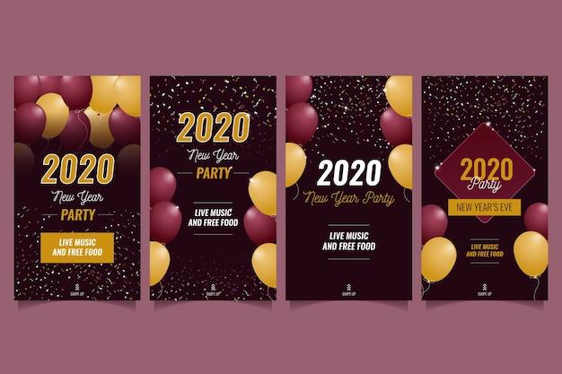 Partygeschichteset des neuen jahres instagram