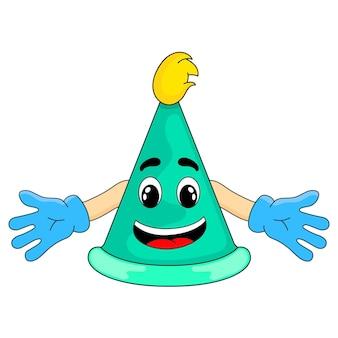 Partyhut cartoon-maskottchen