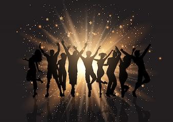 Partymasse auf einem starburst Hintergrund