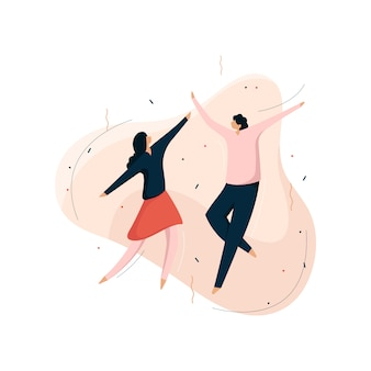 Partyvektorillustration, leute tanzen und feiern