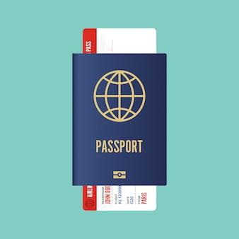 Pass- und bordkartenabbildung