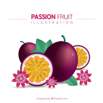 Passionsfrucht-illustration
