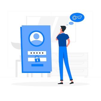 Passwort-illustration vergessen