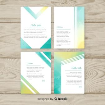 Pastell-aquarell-broschüren-schablonensammlung