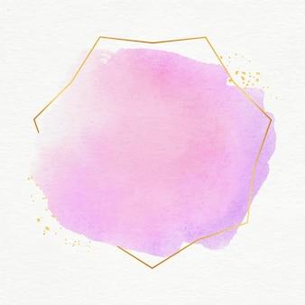 Pastell aquarell mit goldenem rahmen