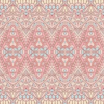 Pastell böhmische ethnische nahtlose muster ornamental. handgezeichneter grafikdruck
