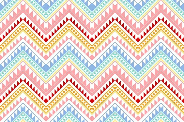 Pastell bunte vintage zickzack ethnische geometrische orientalische nahtlose traditionelle muster. design für hintergrund, teppich, tapetenhintergrund, kleidung, verpackung, batik, stoff. stickstil. vektor.