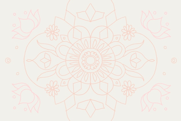 Pastell diwali indisches mandala gekritzel