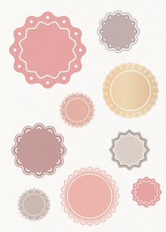 Pastell-etiketten festgelegt