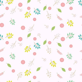 Pastell farbe floral nahtlose vektor-muster