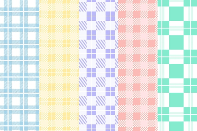 Pastell gingham muster gesetzt