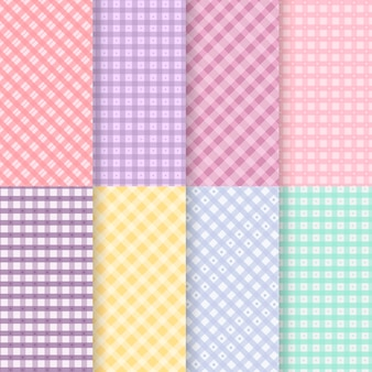 Pastell gingham muster sammlung