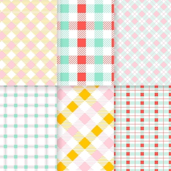 Pastell gingham muster