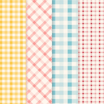 Pastell-gingham-musterpackung