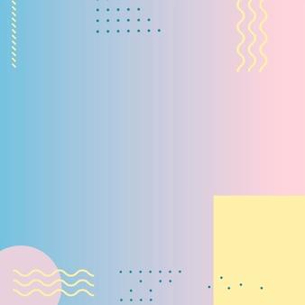 Pastell memphis instagram anzeigenhintergrund