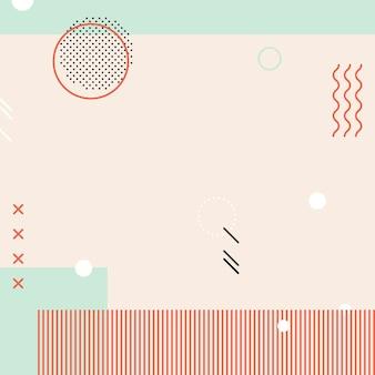 Pastell memphis instagram-anzeigenhintergrundvektor