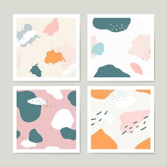 Pastell memphis muster design