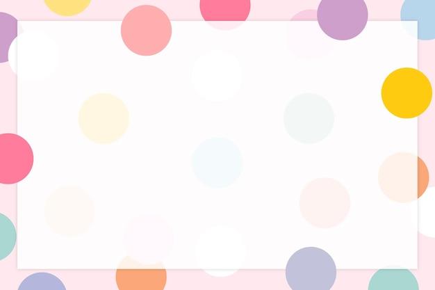 Pastell polka dot rahmen in süßem pastellmuster
