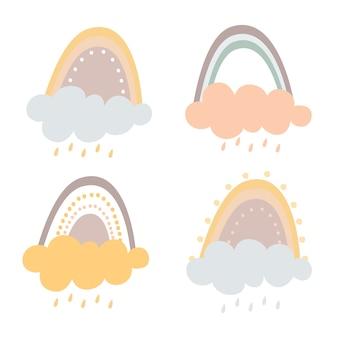 Pastell regenbogen set